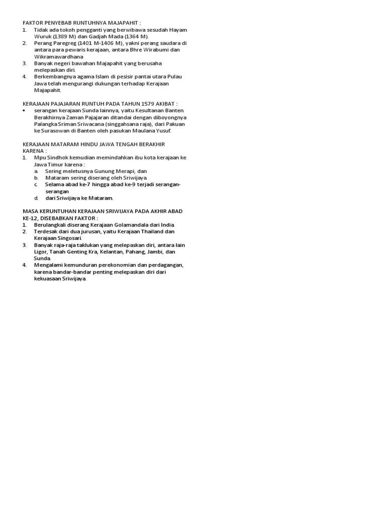 Faktor Penyebab Keruntuhan Kerajaan Sriwijaya : faktor, penyebab, keruntuhan, kerajaan, sriwijaya, FAKTOR, PENYEBAB, RUNTUHNYA, KERAJAAN, HINDU-BUDHA, INDONESIA