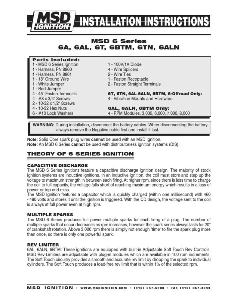 medium resolution of msd 8860 wiring harnes