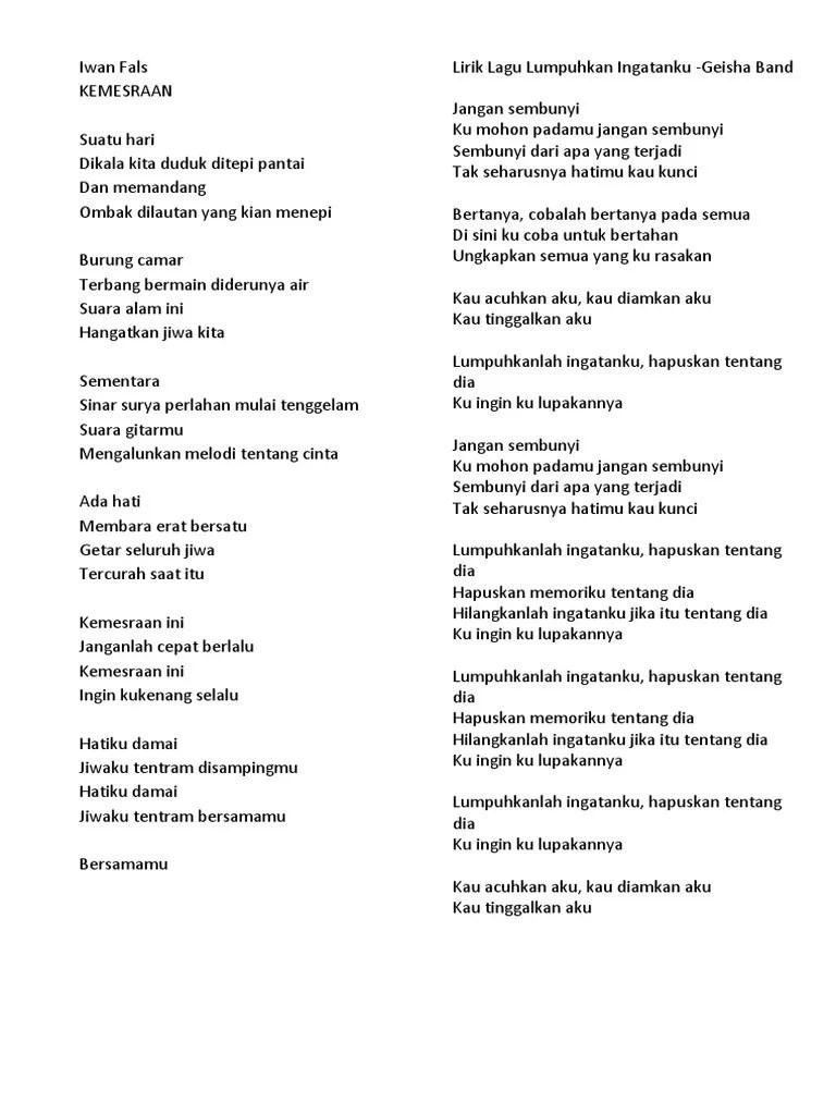 Lirik Lagu Papinka Dirimu Bukan Untukku : lirik, papinka, dirimu, bukan, untukku, LIRIK, CAMPUR.docx