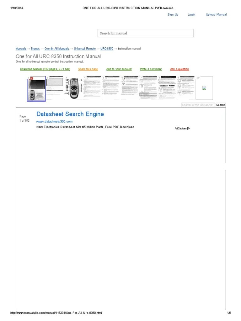 One For All Urc 40 Benutzerhandbuch Manualzz – DokterAndalan