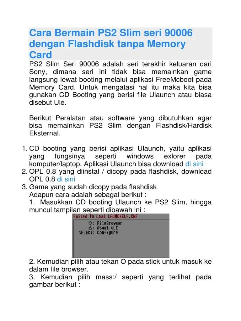 Cara Main Ps2 Matrix Dengan Flashdisk : matrix, dengan, flashdisk, Ulaunch, Flashdisk, Ieaspoy