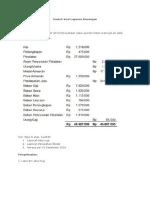 Laporan Laba Rugi Sederhana : laporan, sederhana, Contoh, Sederhana, Laporan, Keuangan
