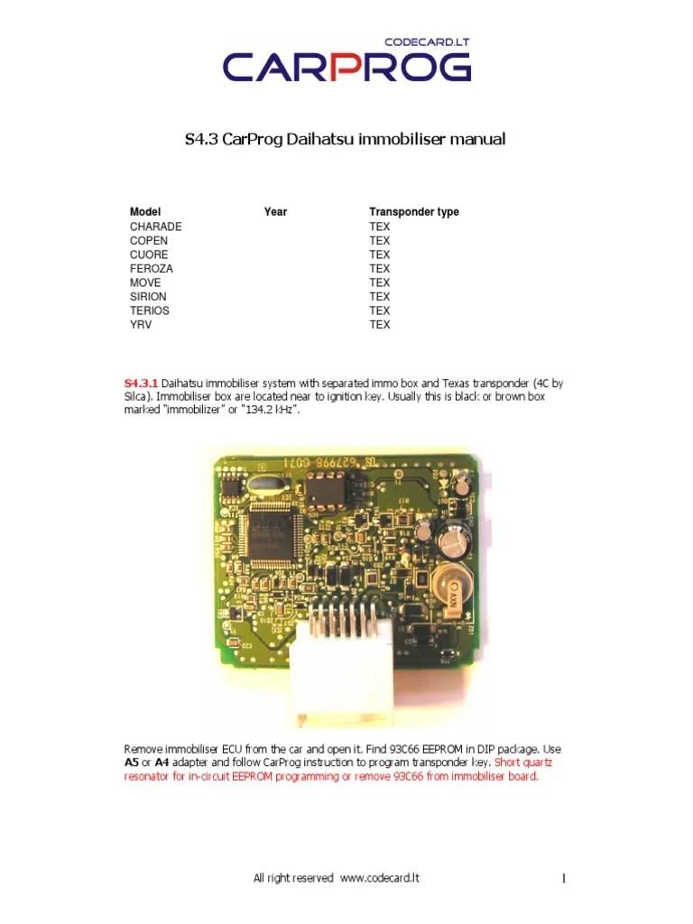 small resolution of daihatsu immobilizer wiring diagram