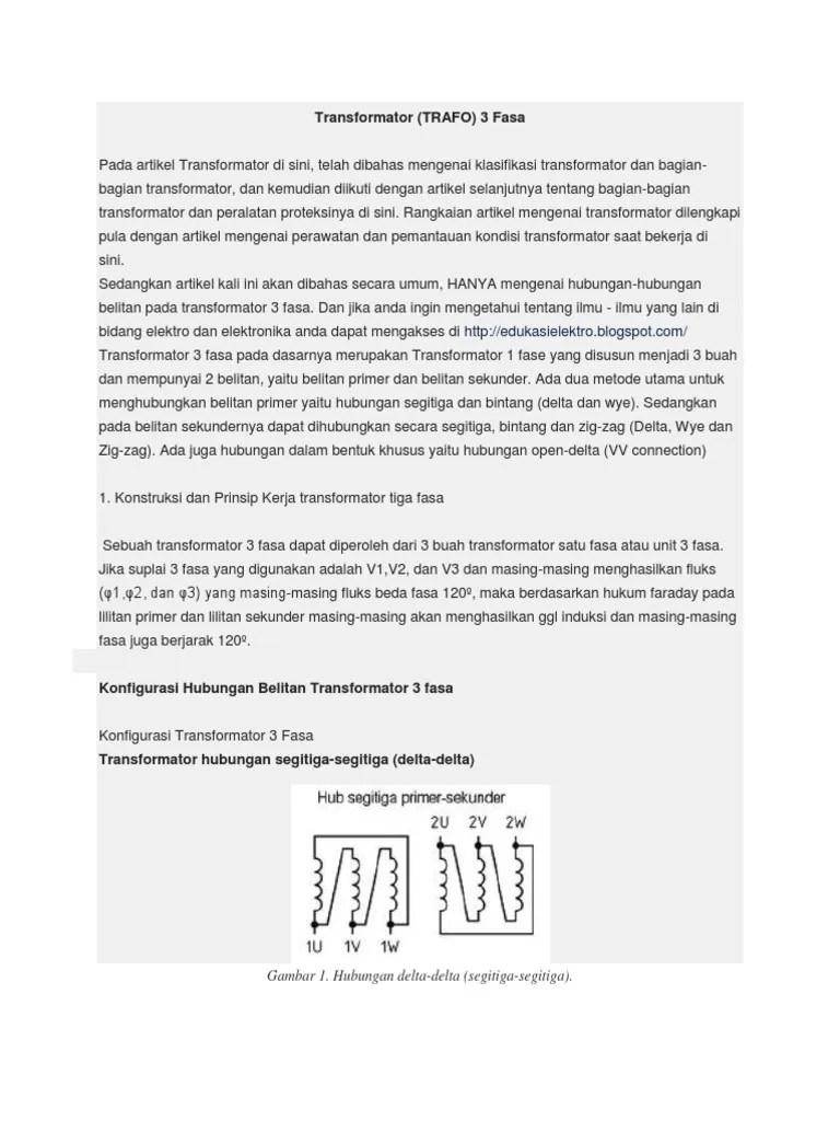 Transformator 3 Fasa Pdf : transformator, Trafo, 3fasa