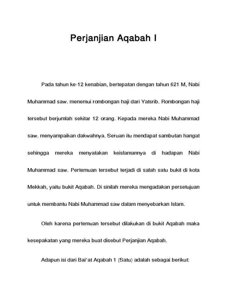 Baiatul Aqabah : baiatul, aqabah, Perjanjian, Aqabah
