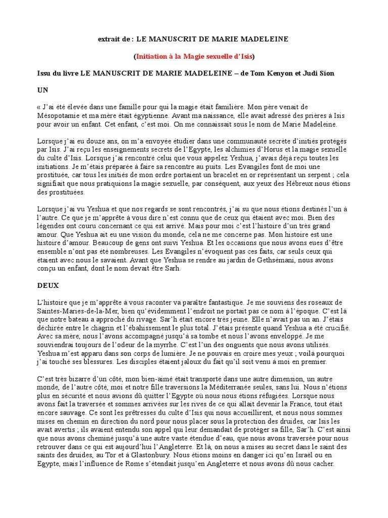 Le Manuscrit De Marie Madeleine : manuscrit, marie, madeleine, Manuscrit, Marie, Madeleine, Marie,, Mère, Jésus