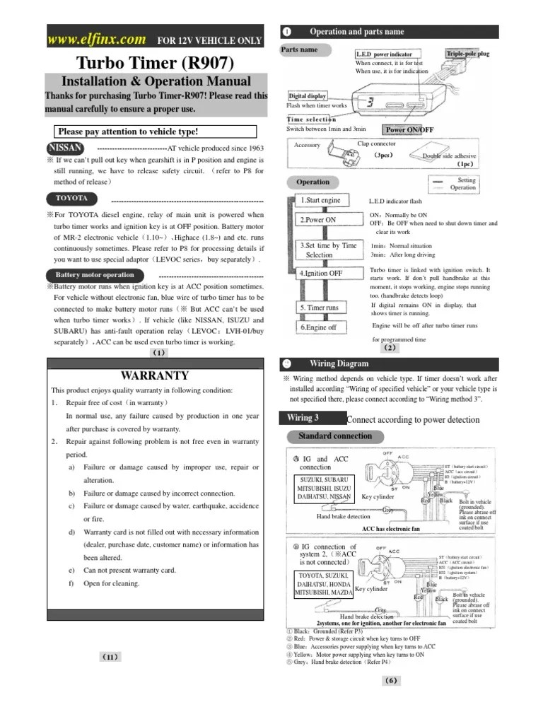 hight resolution of fizz turbo timer wiring diagram