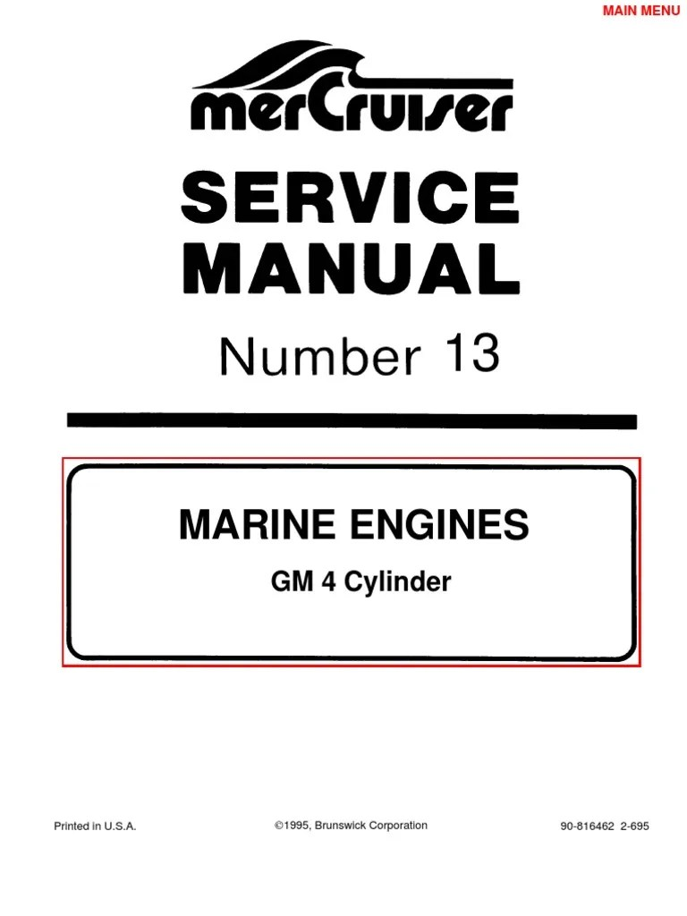 small resolution of mercruiser manual gm 4 cylinder propeller internal combustion engine 120 hp mercruiser engine diagram