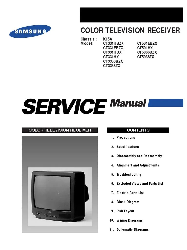 medium resolution of 2896284 samsung ct3338 chasis k15a tv service manual pdf electrostatic discharge electrical connector