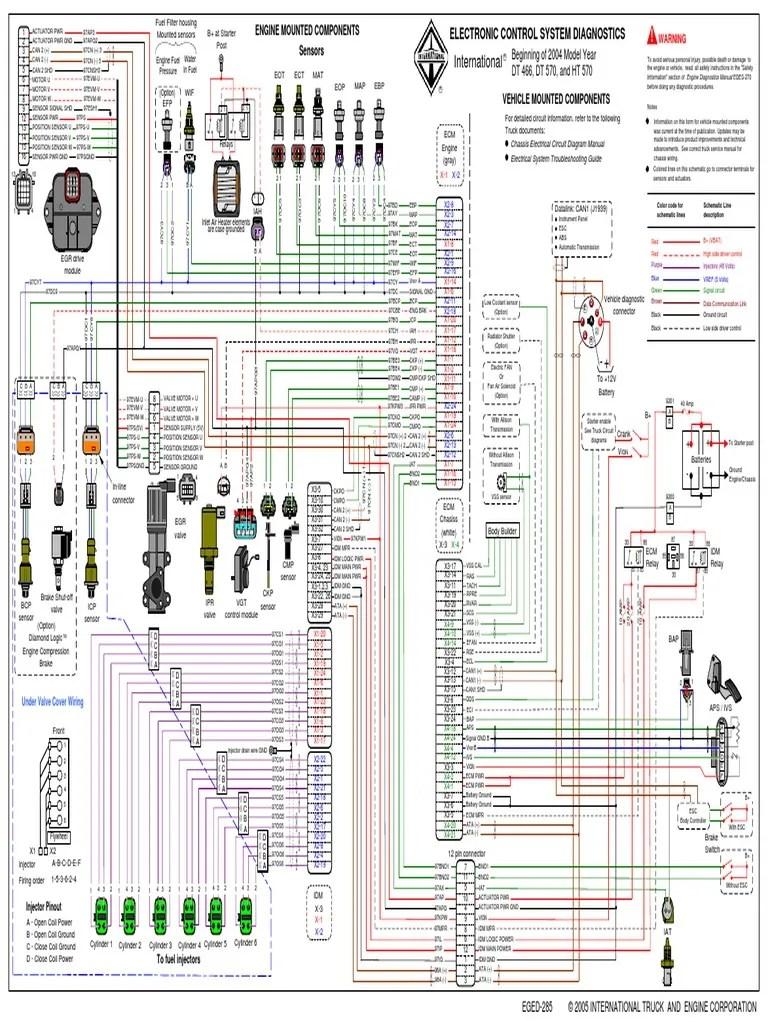 hight resolution of international wiring diagram truck international get diagrama dt466e egr