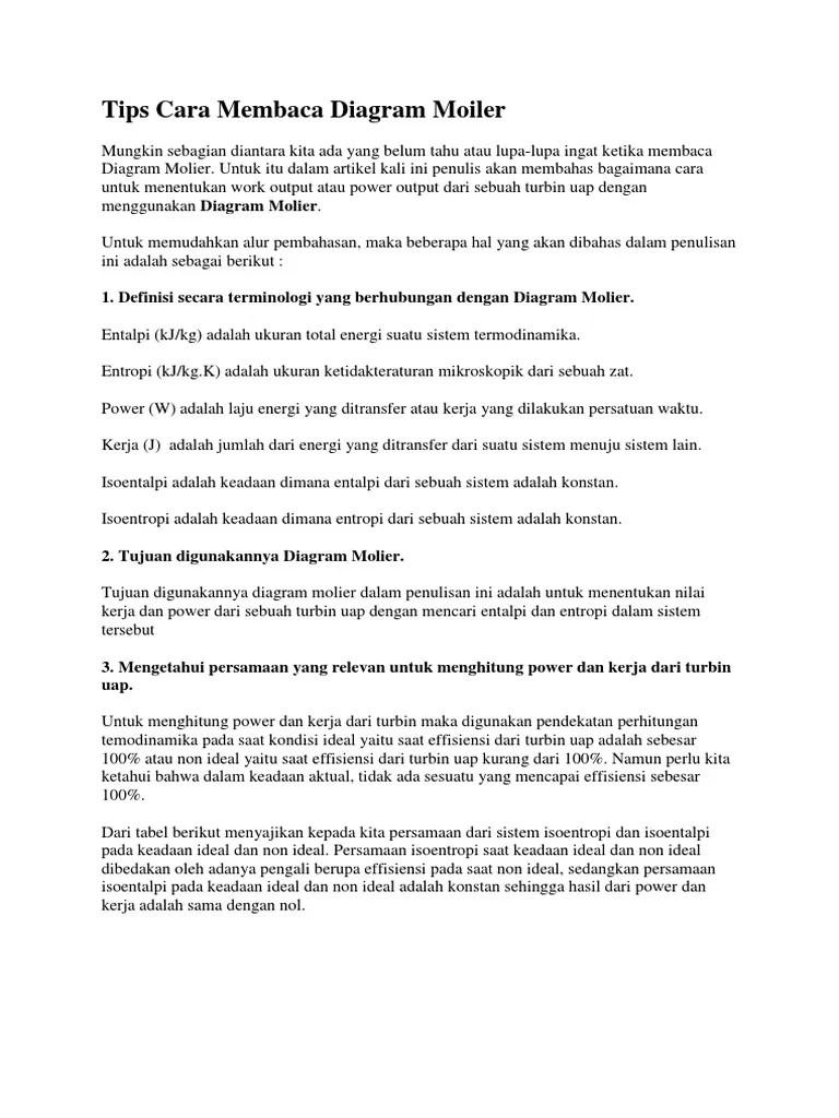 Tips Cara Membaca Diagram Docx