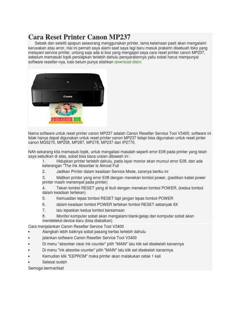 Resetter Canon Ip2770 V3400 : resetter, canon, ip2770, v3400, Reset, Printer, Canon, Mp237, Dubai, Khalifa