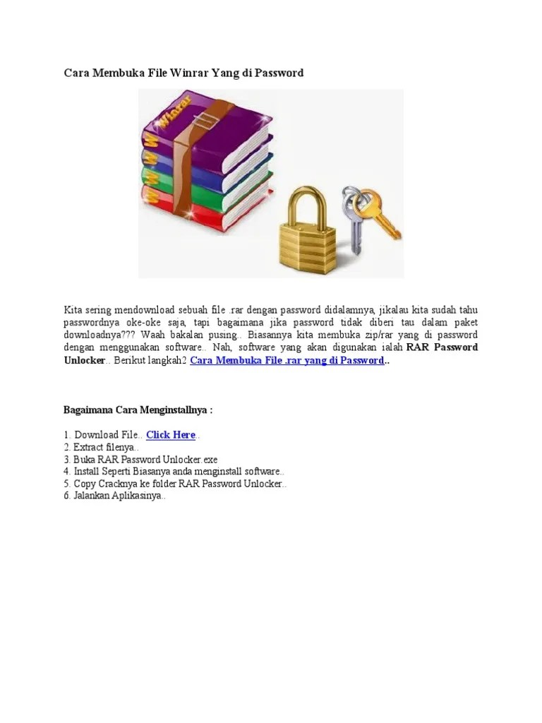Cara Buka File Rar Yang Di Password : password, Membuka, Winrar, Password