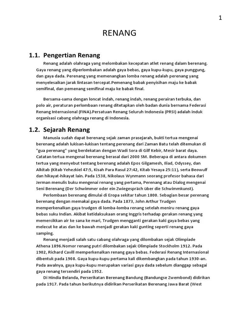 Peraturan Dalam Renang : peraturan, dalam, renang, RENANG