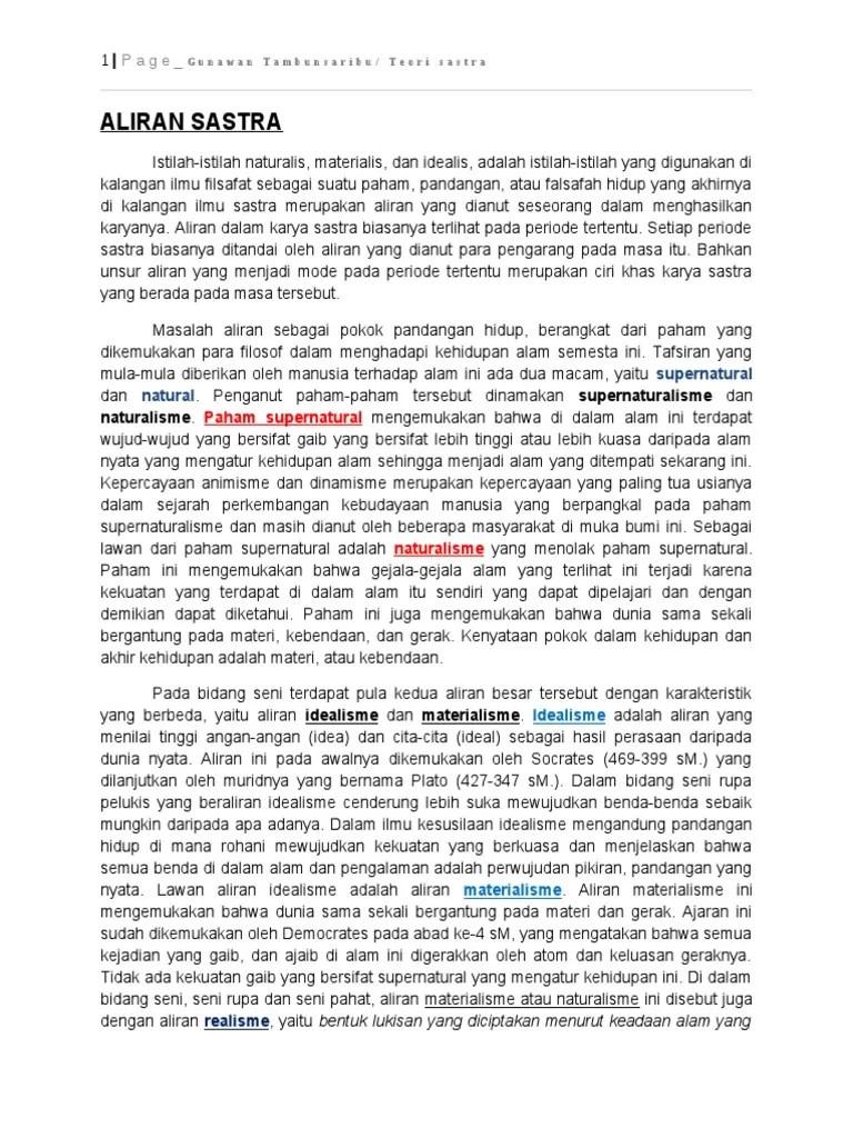 Aliran Aliran Sastra : aliran, sastra, D_TEORI, SASTRA_part, (Aliran-Aliran, Sastra)