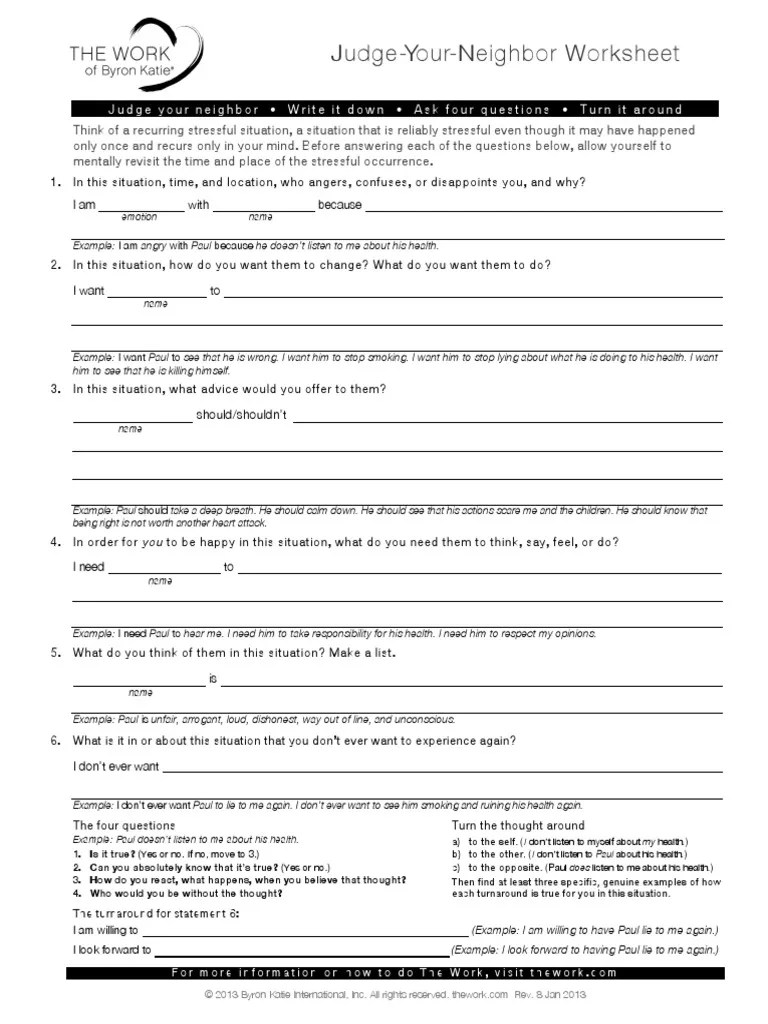 small resolution of Judge Your Neighbor Worksheet   Behavioural Sciences   Psychology