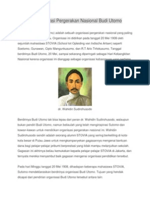 Pelopor Organisasi Budi Utomo : pelopor, organisasi, utomo, Sejarah, Organisasi, Pergerakan, Nasional, Utomo.docx