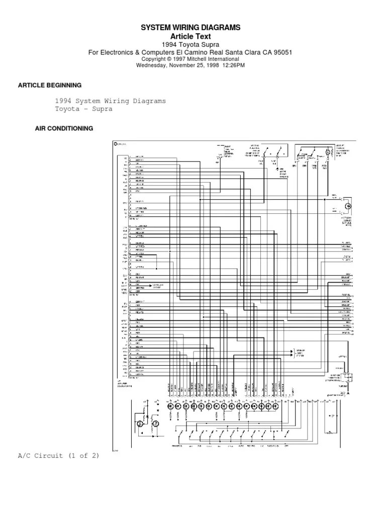 small resolution of 94 supra wiring diagrams motor vehicle manufacturers car 1994 toyota supra wiring diagram 1994 supra wiring diagram