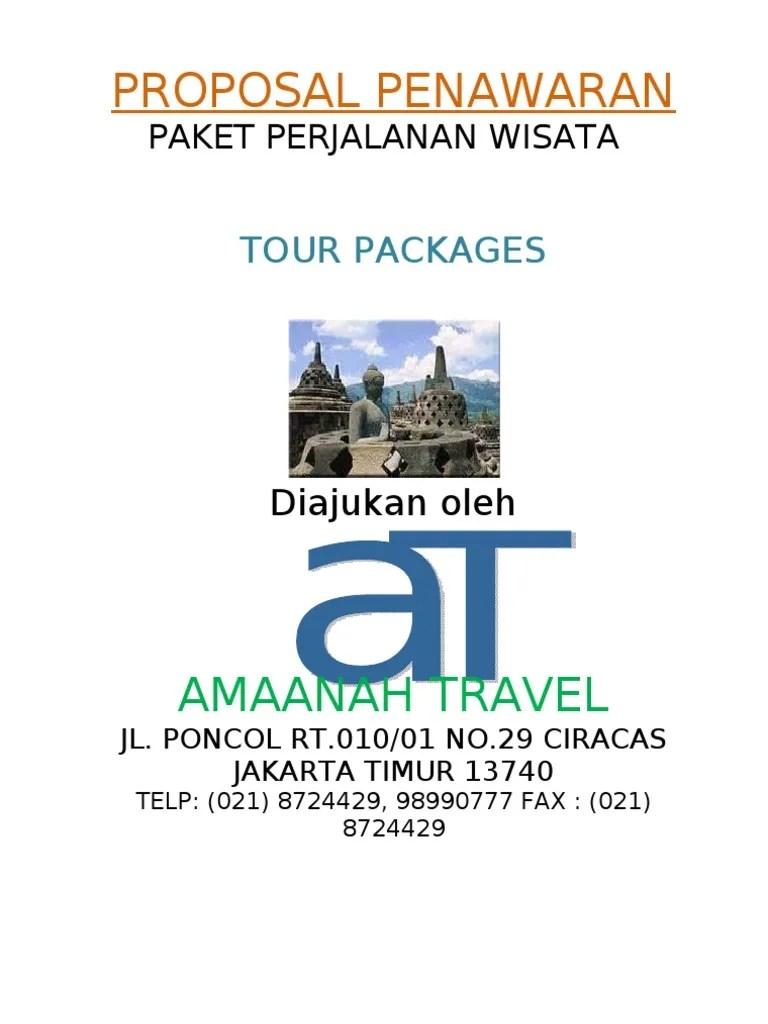 Contoh Proposal Penawaran Paket Wisata Pdf : contoh, proposal, penawaran, paket, wisata, Penawaran, Wisata