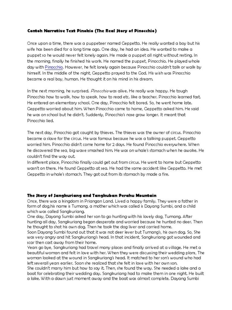 Contoh Narrative Text Bahasa Inggris : contoh, narrative, bahasa, inggris, Bahasa, Inggris, Pinocchio