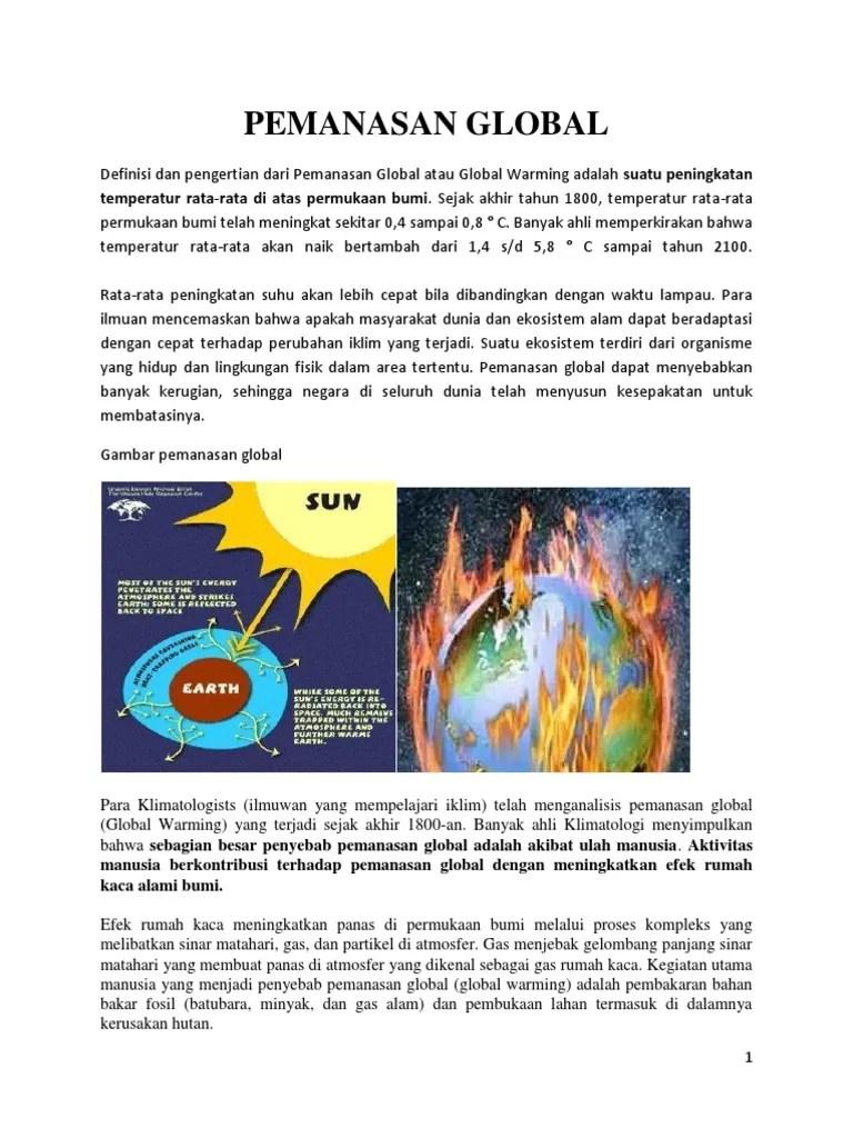 Gas Gas Penyebab Pemanasan Global : penyebab, pemanasan, global, Pemanasan, Global