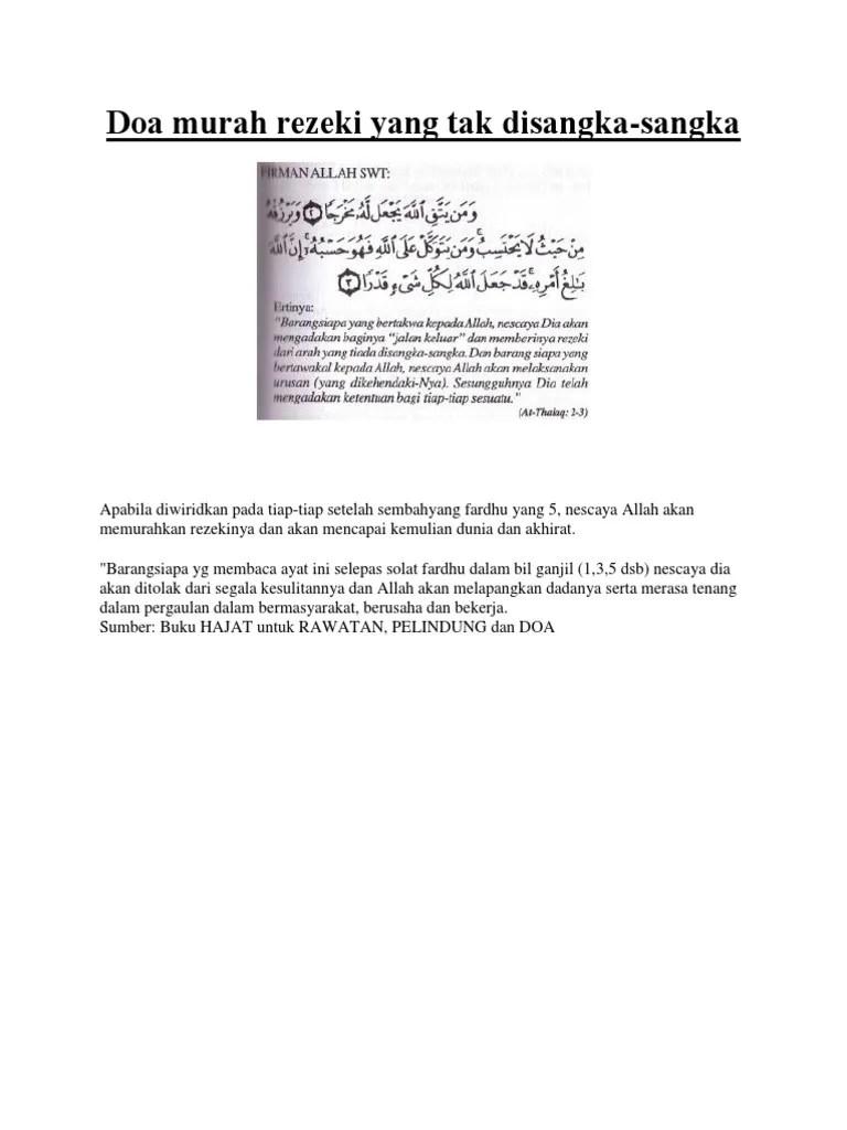 Ayat Tentang Rezeki Yang Tidak Disangka Sangka : tentang, rezeki, tidak, disangka, sangka, Murah, Rezeki, Disangka-sangka