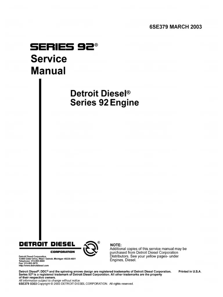 detroit diesel 6v92 series 6se379 march2003 internal combustion engine piston [ 768 x 1024 Pixel ]