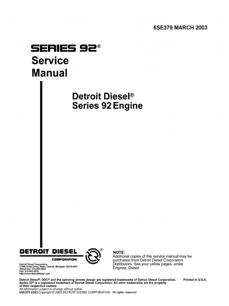 hight resolution of detroit diesel 6v92 series 6se379 march2003 internal combustion engine piston