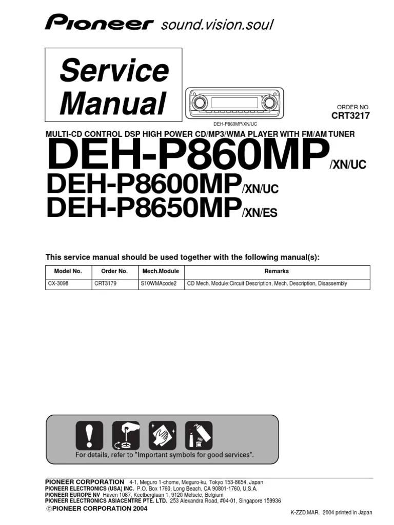 Pioneer Deh 2800mp Wiring Diagram Efcaviation Com
