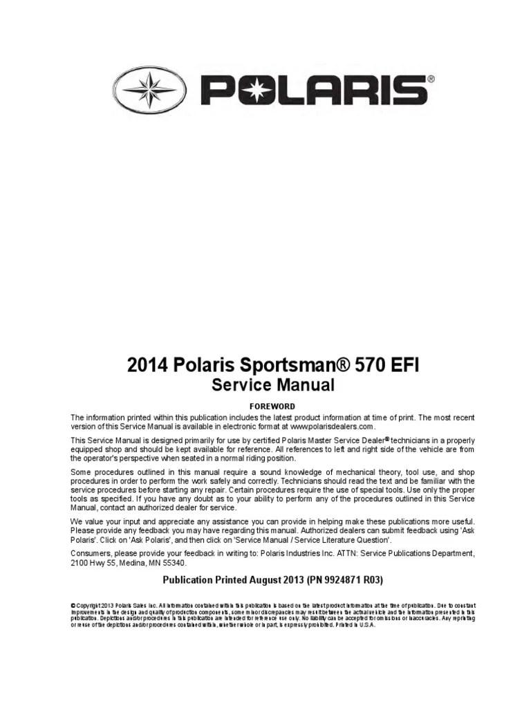 polaris 570 sportsman service manual transmission mechanics fuel injection [ 768 x 1024 Pixel ]