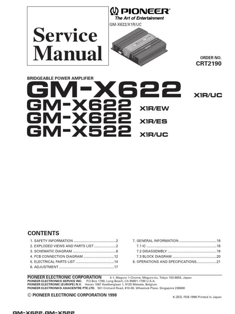 small resolution of ervice gm x622 gm x622 gm x522pioneer gm 123 wiring diagram 6