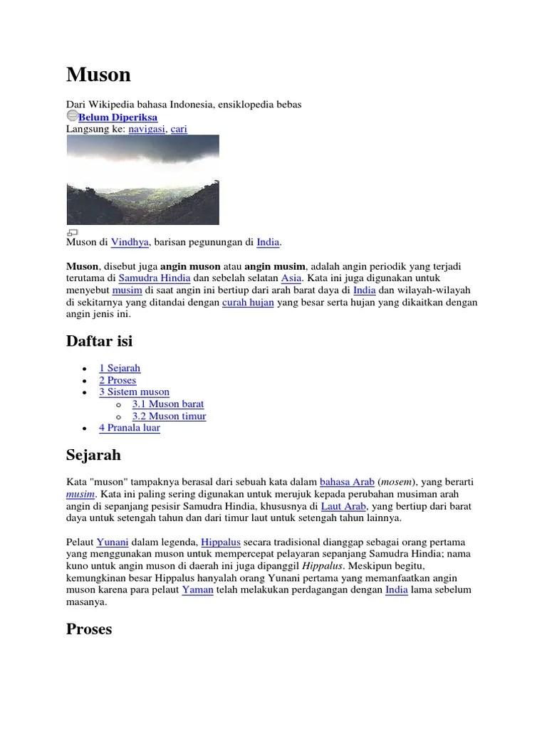 Pengertian Angin Muson : pengertian, angin, muson, Angin, Muson