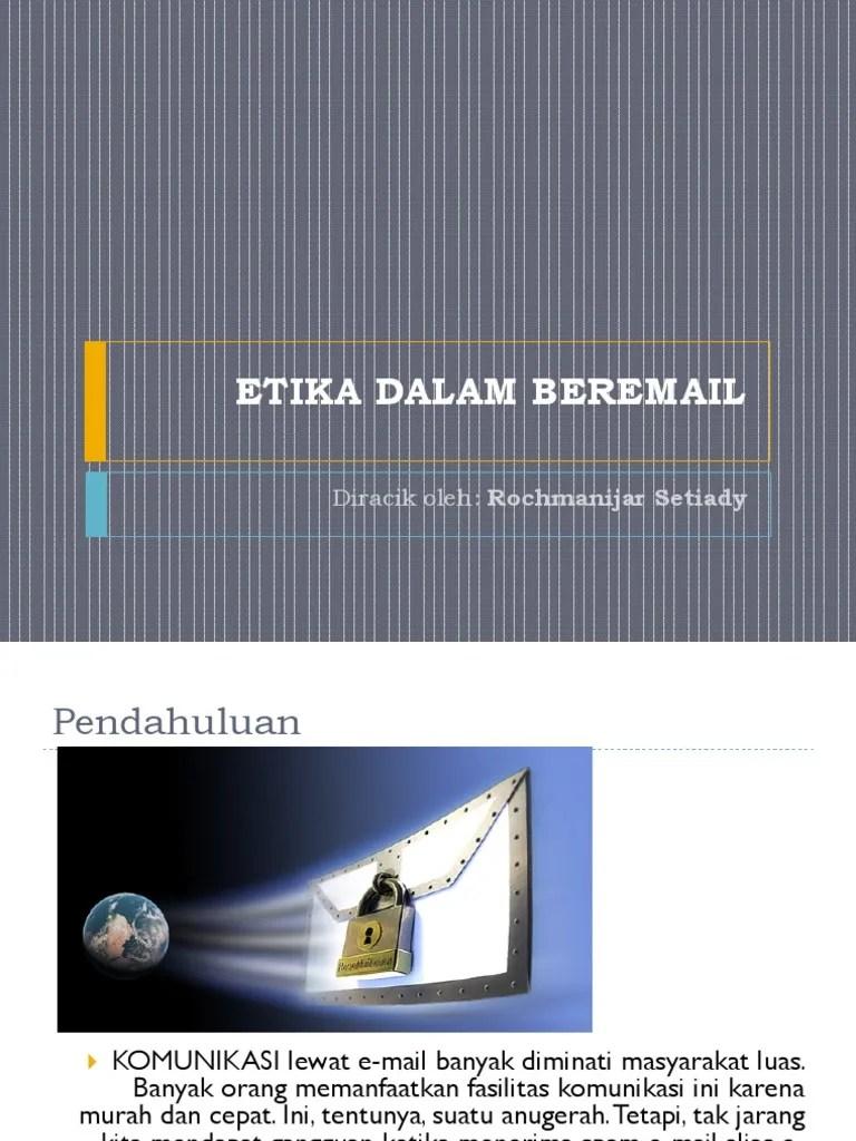 Etika Beremail : etika, beremail, ETIKA, DALAM, BEREMAIL