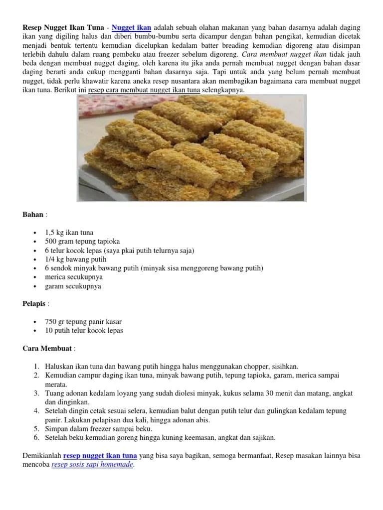 Cara Membuat Nugget Ikan : membuat, nugget, Keren, Membuat, Nugget, Cummings