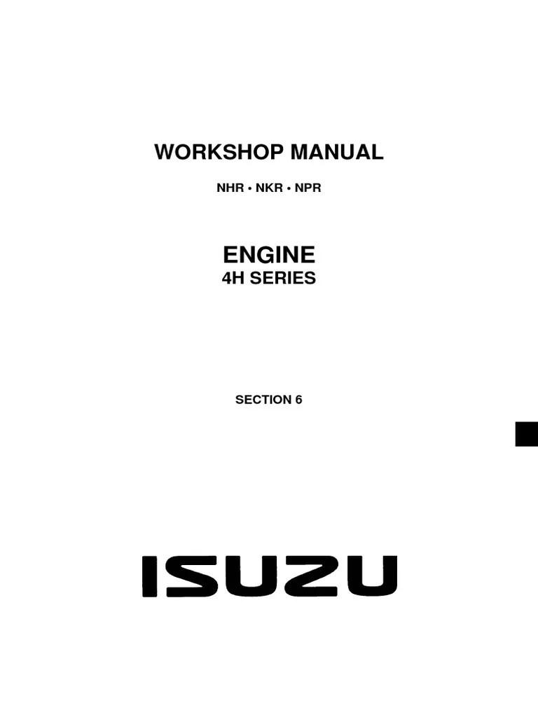 medium resolution of isuzu nhr nkr npr motor oil fuel injection 92 gmc 1500 sierra engine wiring diagram 4hk1