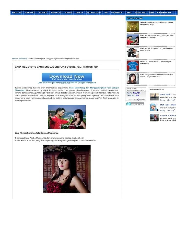Menggabungkan Foto Dengan Photoshop : menggabungkan, dengan, photoshop, Memotong, Menggabungkan, Dengan, Photoshop