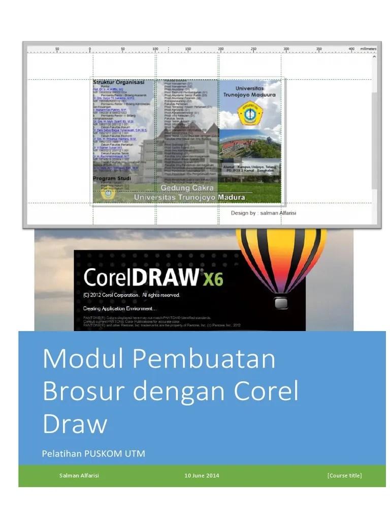Modul Corel Draw X5 Lengkap : modul, corel, lengkap, Modul, Brosur, Corel