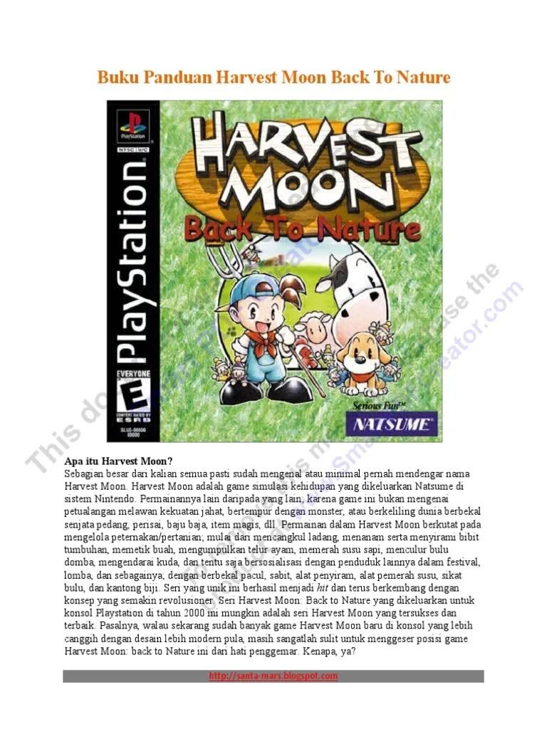 Panduan Harvest Moon : panduan, harvest, Panduan, Harvest, Nature, Versi, Indonesia