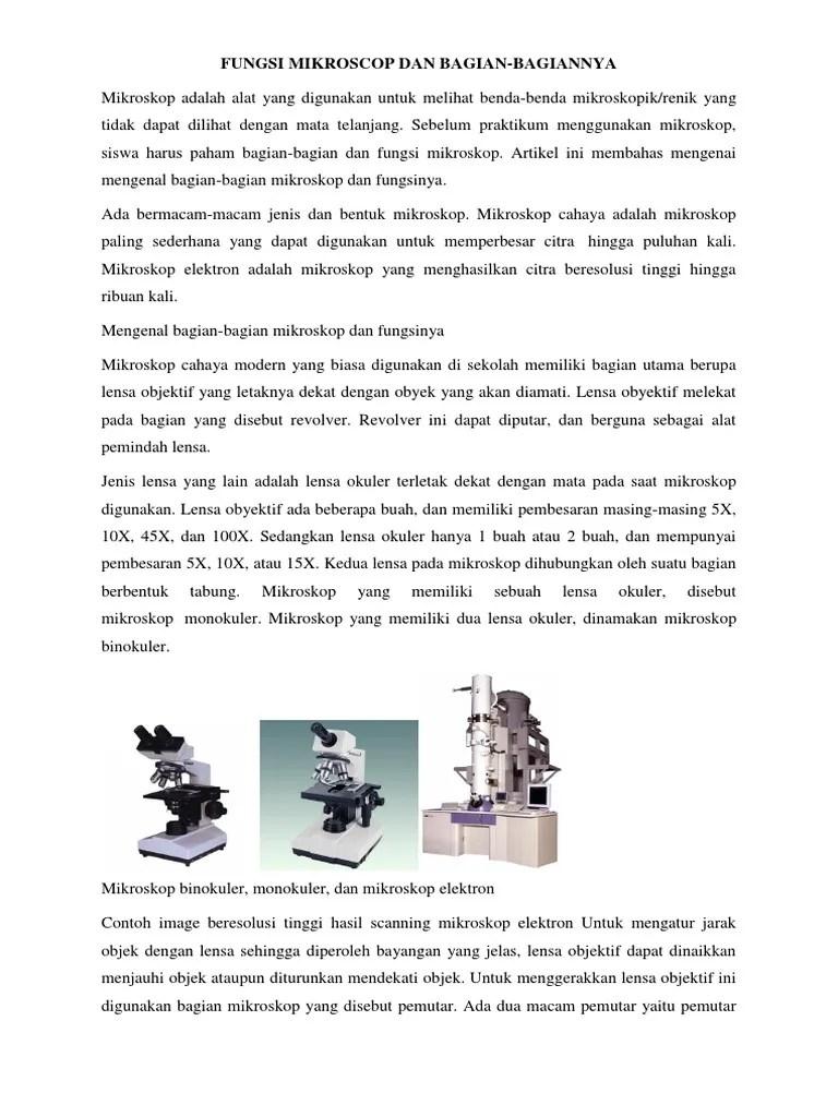 Lensa Yang Letaknya Dekat Dengan Mata Pada Mikroskop Disebut : lensa, letaknya, dekat, dengan, mikroskop, disebut, Fungsi, Mikroscop, Bagian