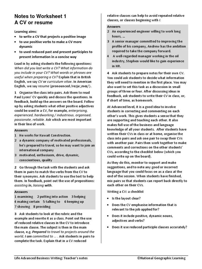 medium resolution of Adv BusinessWriting Notes   Verb   Adverb
