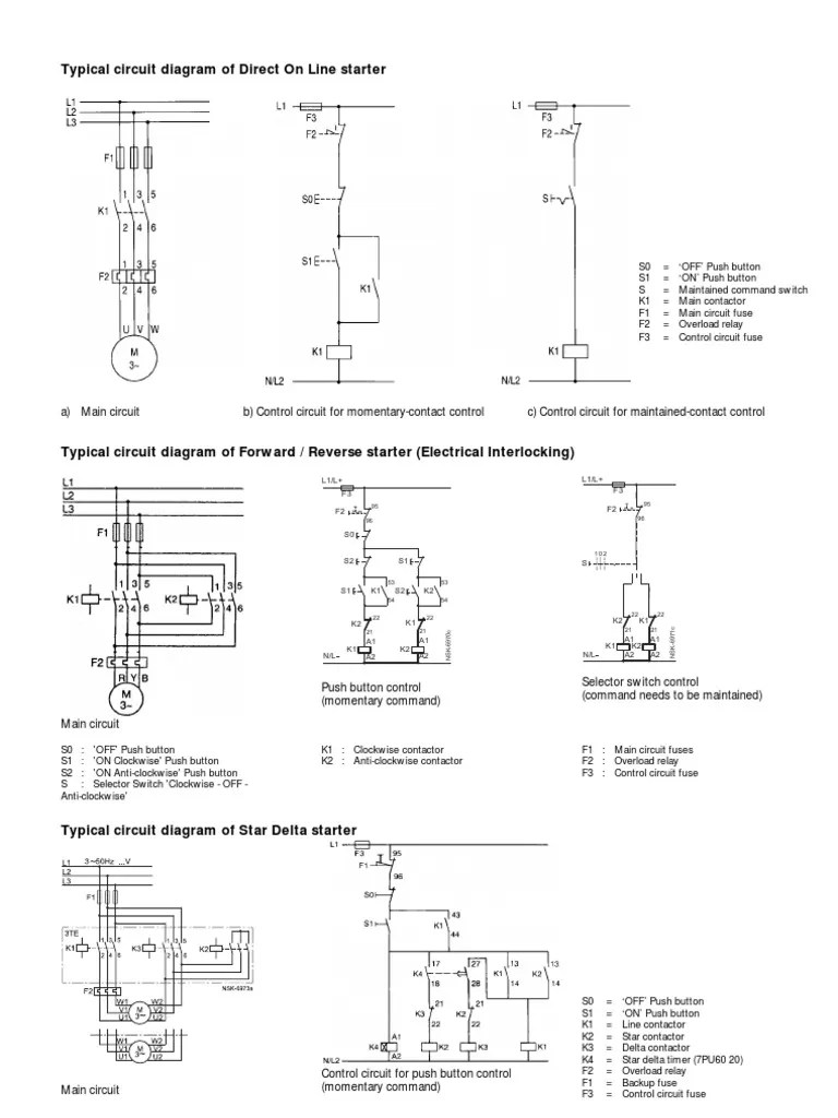 medium resolution of push on switch wiring diagram contactor