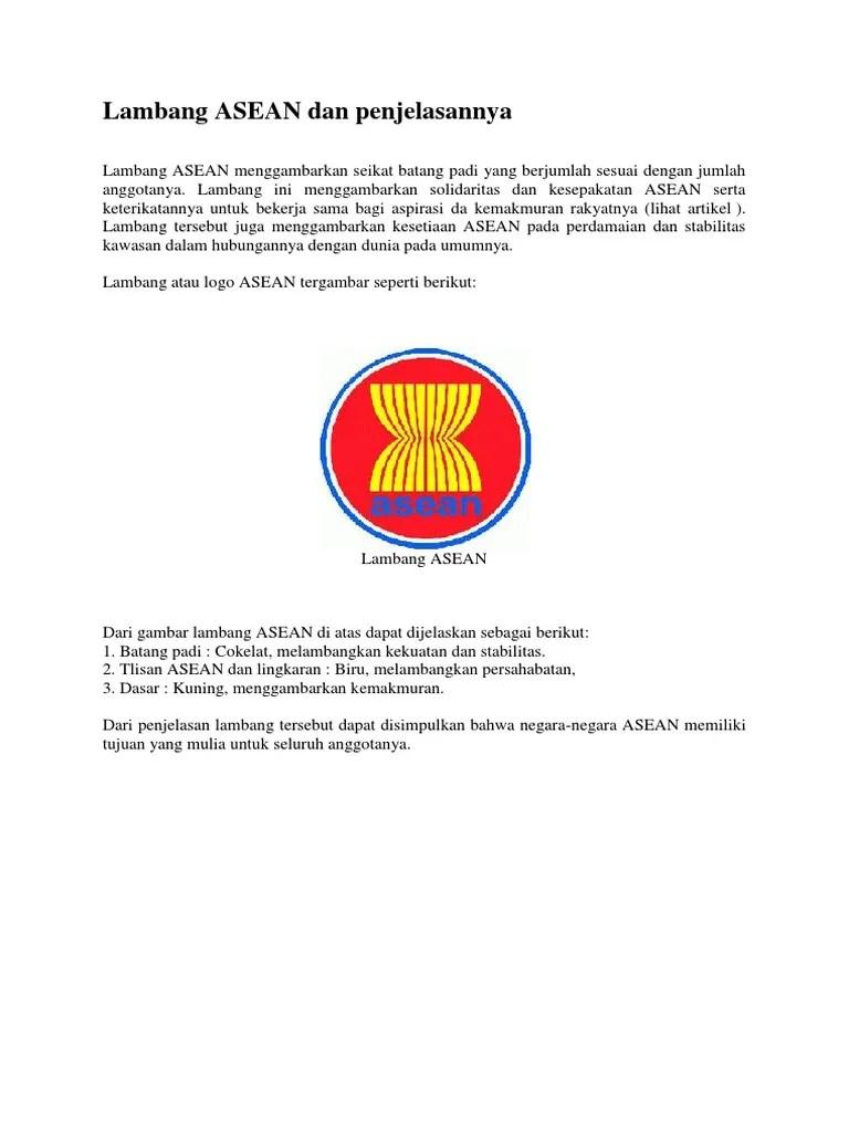 Gambar Logo Asean : gambar, asean, Lambang, ASEAN, Penjelasannya