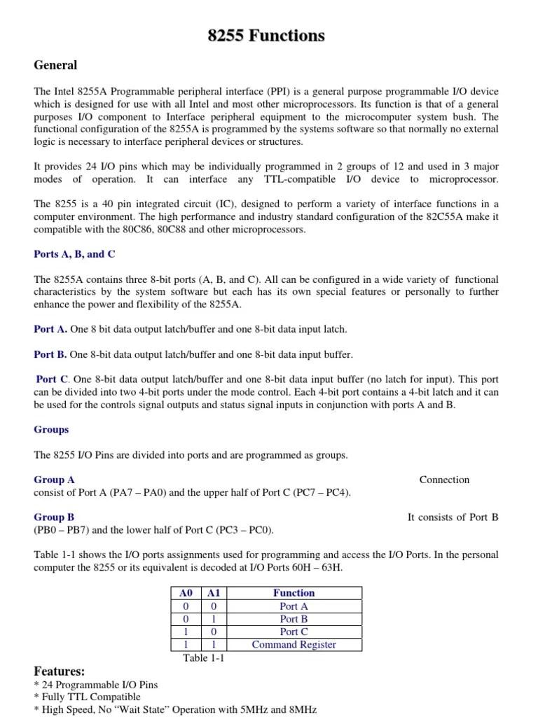 8255 a block diagram [ 768 x 1024 Pixel ]