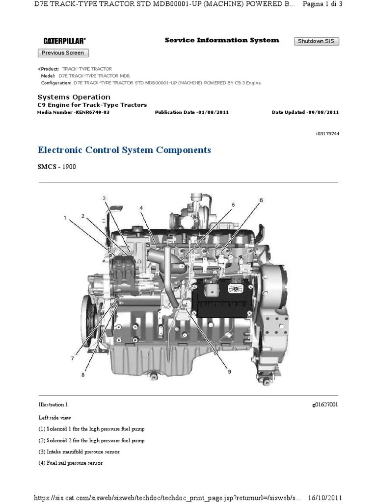 electronic control system components cat d7e engine c9 3 signal electrical engineering electronic component [ 768 x 1024 Pixel ]