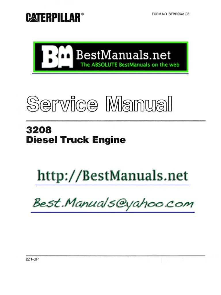 hight resolution of caterpillar 3208 diesel engine sm manual copy one vehicle technology manufactured goods