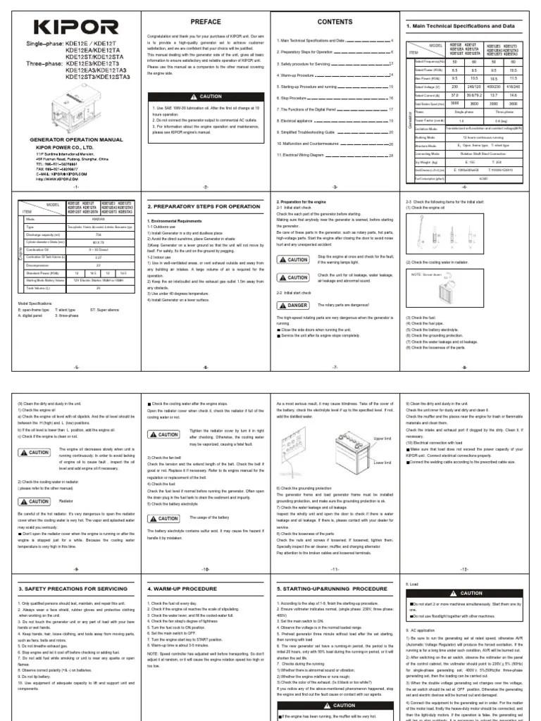 kde12sta kipor generator wiring diagram wiring diagrams lol kde12sta3 en electric generator battery electricity  [ 768 x 1024 Pixel ]