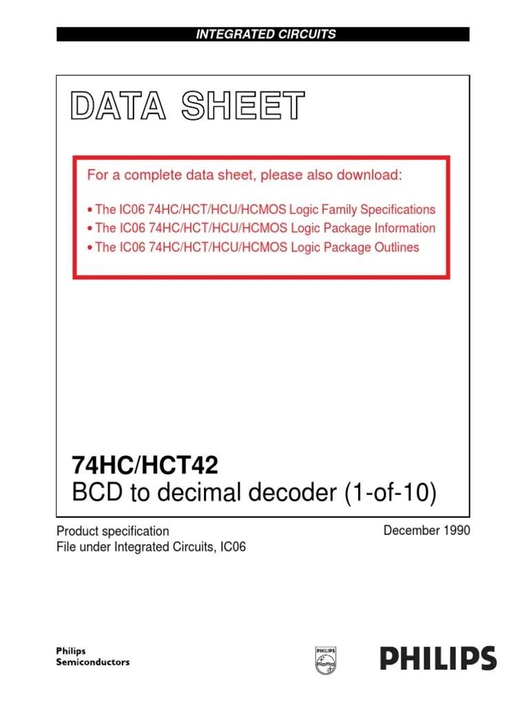 medium resolution of ds 74hc42 decodificador bcd a decimal digital social media digital technology