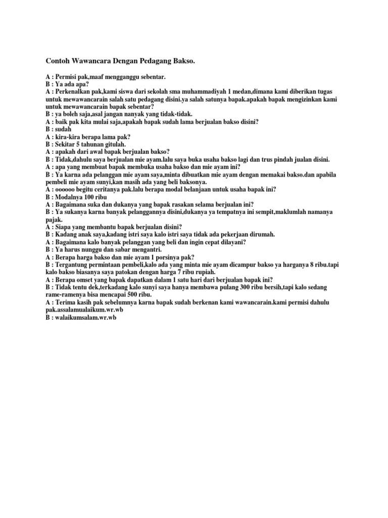 Wawancara Bahasa Sunda Pedagang Bakso Cute766