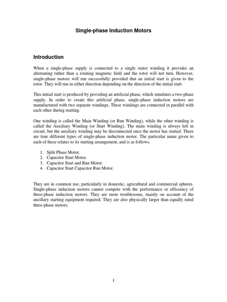 medium resolution of single phase induction motor capacitor wiring