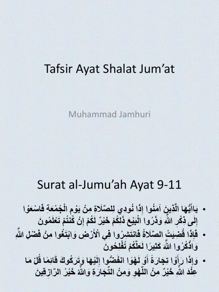 Kandungan Surah Al Jumu Ah Ayat 9 10 : kandungan, surah, Surat, Jummah